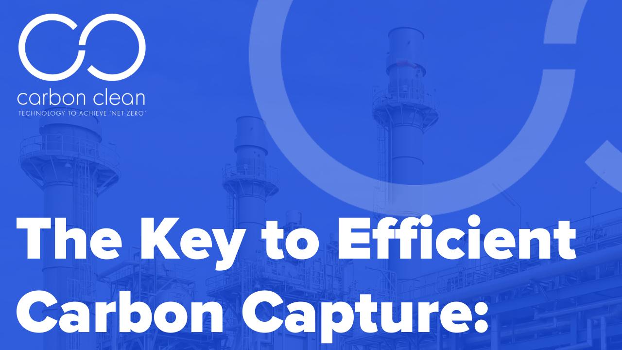 The Key to Efficient Carbon Capture